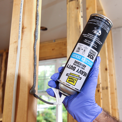 Touch N Foam Adhesive For Drywall Construction