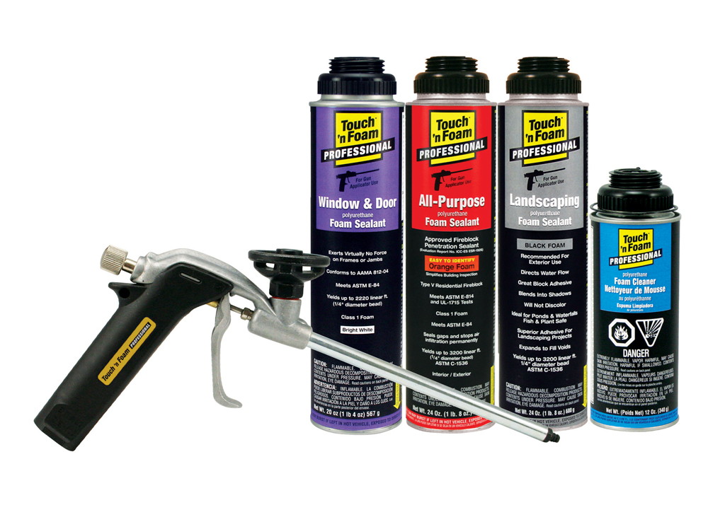 how to clean spray foam gun