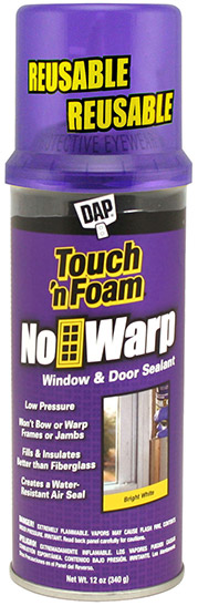 No Warp® Expanding Foam Window & Door Sealant | Touch 'n Foam